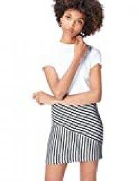 Marca Amazon - find. Falda Mini de Rayas para Mujer