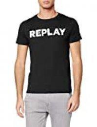 REPLAY M3594 .000.2660 Camiseta, Negro (Black 98), XXX-Large para Hombre