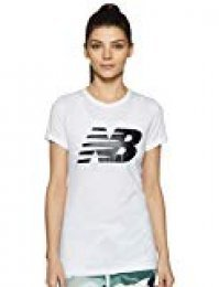 New Balance Core Flying NB Logo Camiseta, Mujer