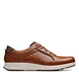 Clarks Un Trail Form, Zapatos de Cordones Derby, Marrón (Tan Leather-), 42 EU