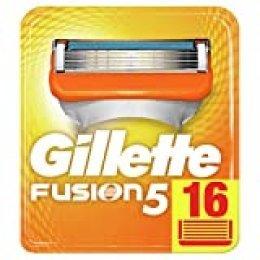 Gillette Fusion5 Cuchillas de Afeitar, Paquete de 16 Cuchillas de Recambio