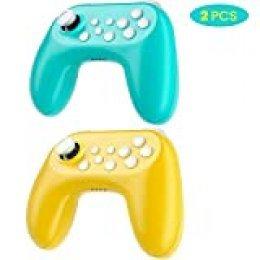 Zacro Mando para Nintendo Switch, con Vibración, Giroscopio, Bluetooth Controlador Inalámbrico, Batería Recargable y Remote Joystick para Nintendo Switch / Switch Lite, para juegos multijugador, 2 PCS