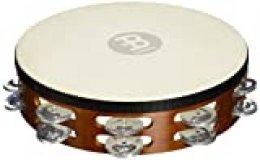 Meinl Percussion TAH2A-AB - Pandereta de aluminio y madera (piel de cabra), Doble fila