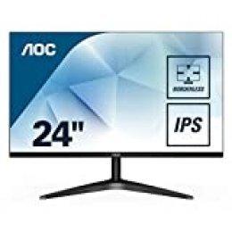 "AOC 24B1XHS – Monitor IPS de 24"" con Pantalla Full HD (IPS, VGA, HDMI, Sin Bordes, Flicker Free, Low Blue Light y VESA)"