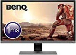 "BenQ EL2870U - Monitor Gaming de 28"" 4K UHD (3840x2160, 16:9, 1ms, HDR, HDMI 2.0x2, DisplayPort 1.4, Free-Sync, Eye-Care, Sensor Brillo Inteligente Plus, Flicker-free, Altavoces), Gris Metálico"