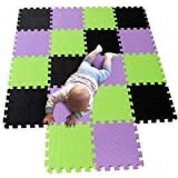 MQIAOHAM juego de enclavamiento juego de bebé tapetes para niños tapetes para niños foammats playmats estera del rompecabezas bebé niños tapete tapete tapete negro Morado Frutaverde 104111115
