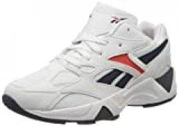Reebok AZTREK 96, Gymnastics Shoe Womens, White/Collegiate Navy/Radiant Red, 38.5 EU