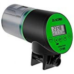 Zacro Comedero de Peces Automáticos,Digital Alimentador de Peces con Cargador USB,Pantalla LCD,se Sirve para ≤24mm Acuario,Pecera,Dispensador de Comida para Peces
