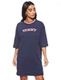 Tommy Hilfiger Cn Dress LS Pijama de una Pieza para Mujer