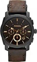 Fossil Reloj Cronógrafo para Hombre de Cuarzo con Correa en Piel FS4656