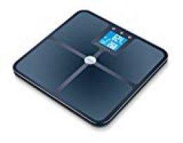 Beurer BF950 - Báscula de baño diagnóstica con IMC y función Bluetooth, de vidrio, color negro, 32 x 32 x 2.4 cm, 0.9 kg