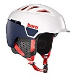Bern Heist Brim MIPS Casco, Unisex Adulto, Satin Patriot, Medium