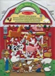 Melissa & Doug- On The Farm Juego con Pegatines Reutilizables, Multicolor (19408)