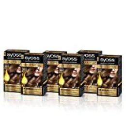 SYOSS, Coloración permanente - 6 unidades Sin Amoníaco  Tono 6.10 Rubio Oscuro
