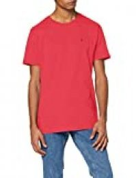 Tommy Hilfiger TJM Essential Solid tee Camiseta, Rosa (Bright Cerise Pink T1k), Large para Hombre