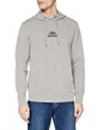 Tommy Hilfiger Basic Embroidered Hoody Sudadera, Gris, Large (Talla del Fabricante:) para Hombre
