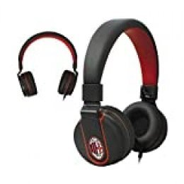 Techmade Tm-Ip952-Mil - Auriculares Multimedia Oficiales Milan, Color Rojo y Negro