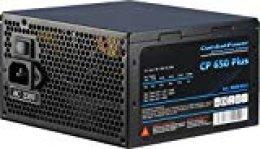 Inter-Tech CP 650 Plus Unidad de - Fuente de alimentación (650 W, 115-230 V, 50-60 Hz, 3 A, 12V1,+12V2,+12V3,+12V4,+3.3V,+5V,+5Vsb,12V, Activo)