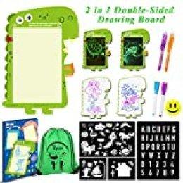 Vykor - Tablero de Dibujo Ligero para niños y niños, 3 en 1, Tablero de Pintura mágica, para Dibujar con bolígrafos, marcadores, Plantillas de Pintura, Regalos educativos para niños pequeños
