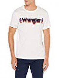 Wrangler Graphic Logo tee Camiseta, Blanco (Antique White Xft), Medium para Hombre
