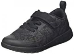 Clarks Scape Bright T, Zapatillas para Niños, Negro (Black Interest Black Interest), 26 EU