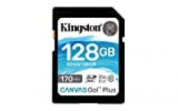 Kingston SDG3/128GB Tarjeta de memoria SD ( 128GB SDXC Canvas Go Plus 170R C10 UHS-I U3 V30 )