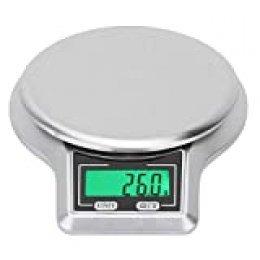 Wifehelper - Báscula de Cocina multifunción de Alta precisión, 5 kg / 0,1 g LCD Digital con botón táctil Digital, Herramienta de medición de Peso, báscula Digital de Cocina