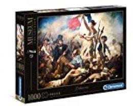 Clementoni- Puzzle 1000 Piezas Museos Delacroix: La Libertad guiando al Pueblo (39549.1)