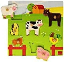 Goula - Puzzle con sonidos de diseño animales granja, 7 piezas (Diset 53081) , color/modelo surtido
