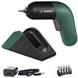 Bosch Atornillador a Batería IXO Set, 6.a Generación, Recargable con su Estación de Carga o Cable Micro-USB, Regulación de la Velocidad, en Caja, Verde