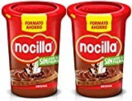 Nocilla Original: crema de cacao natural con avellanas - Sin aceite de palma - Envase de plástico de 650 gramos - Formato ahorro [Pack de 2]