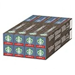 Starbucks Decaf Espresso Roast de NESPRESSO Cápsulas de café de tostado intenso, 8 x tubo de 10unidades