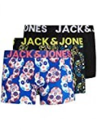 Jack & Jones JACCOLORFULL Skull Trunk 3 Pack PS Bóxer, Amarillo neón, XXL para Hombre