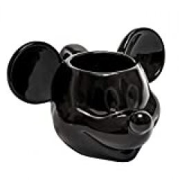 Joy Toy 62123Mickey Mouse 3d taza de cerámica (13,5x 12x 8,5cm), color negro