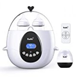 Bable Calienta Biberones 丨 Esterilizador Biberon 丨 Calentador de Alimentos con Control Remoto y Pantalla LCD de Temperatura en Tiempo Real y Objetivo