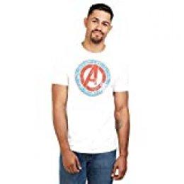 Marvel Mightiest-Mens T Shirt SML Camiseta, Blanco (White Wht), Small (Talla del Fabricante: Small) para Hombre