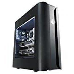 BitFenix BFC-PAN-600-KKWN1-RP Carcasa de Ordenador Midi-Tower Negro - Caja de Ordenador (Midi-Tower, PC, Acrilonitrilo butadieno estireno (ABS), Acero, Negro, ATX,Micro ATX,Mini-ITX, 44 cm)