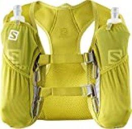 Salomon Agile 2 Set Mochila para Carrera de montaña, Unisex Adulto, Amarilla (Citronnelle)/Amarilla (Sulphur Spring), Talla única