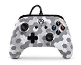 Controlador PowerA Wired con licencia oficial para Xbox One, Xbox One S, Xbox One X und Windows 10  - Escarcha ártica Camo