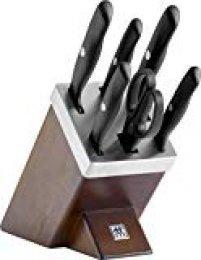 Zwilling - Juego de 5 cuchillos y tijera con bloque de Madera