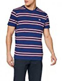 Lee Basic Stripe tee Camiseta, Azul (Washed Blue LR), M para Hombre