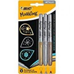 BIC Marking Color Metal Pack de 3rotuladores de dibujo colores metálicos