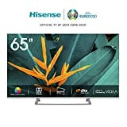Hisense H65BE7400 Smart TV 65' 4K Ultra HD, 3 HDMI, 2 USB, Salida Óptica, WiFi, Bluetooth, Dolby Vision HDR, Wide Color Gamut, Audio Dts, Procesador Quad Core, Smart TV VIDAA U 3.0 con IA