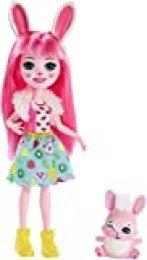 Enchantimals Bree Bunny y Twist, muñeca con mascota (Matty FXM73)