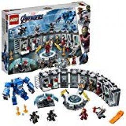 LEGO Super Heroes - Iron Man: Sala de Armaduras, Juguete de Construcción de la Colección de Trajes de Combate de Tony Stark (76125)