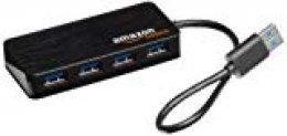 AmazonBasics - Hub USB 3.0 de 4 puertos (enchufe europeo), color negro