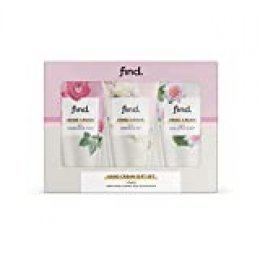 FIND - Colección set de regalo cremas de mano 3x75 ml (con perfumes de rosa de la India, jazmín y loto salvaje)