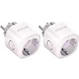 Nooie Enchufe Inteligente Smart Plug Compatible con Amazon Alexa, Echo, Google Home, Enchufes Inteligentes Temporizador Interruptor Wifi, Domotica para el Hogar(2 Packs)