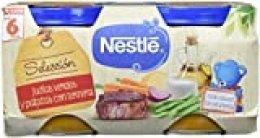Nestlé Naturnes - Selección Judías Verdes y Patatas con Ternera - A partir de 6 meses - 2 x 200 g - [Pack de 5]