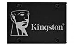 "Kingston KC600 SSD SKC600/512G - Disco Duro Sólido Interno 2.5"" SATA Rev 3.0, 3D TLC, Cifrado XTS-AES de 256 bits, 512 GB"